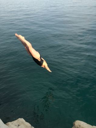 Cliff Diving into the Adriatic, Joe's Beach - Split, Croatia