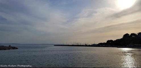 Adriatic at sunset, Split, Croatia